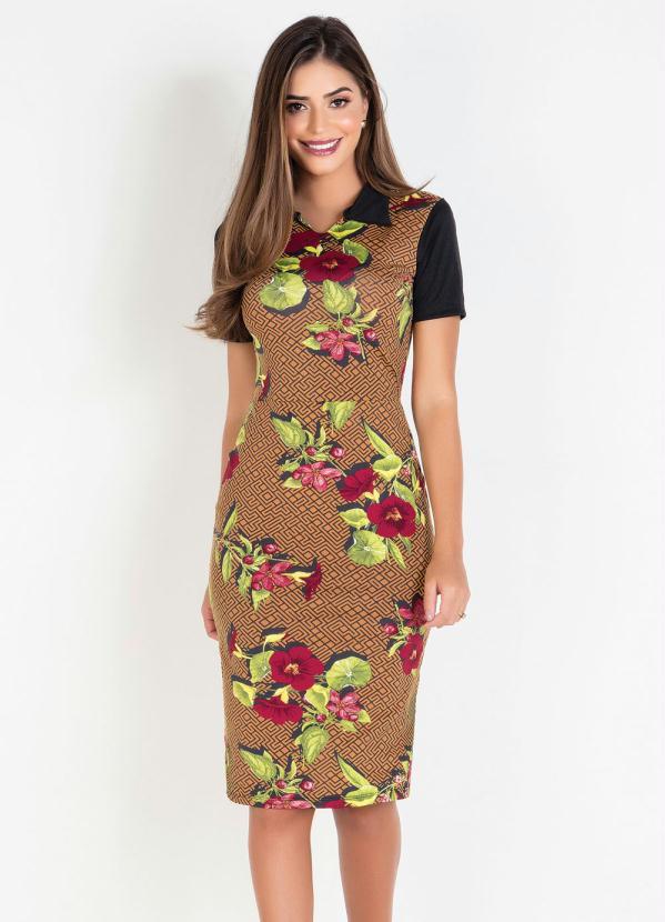 Vestido Tubinho (Geométrico) Moda Evangélica