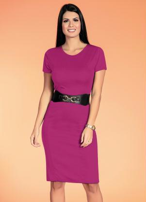 Vestido Tubinho (Rosa) Moda Evangélica