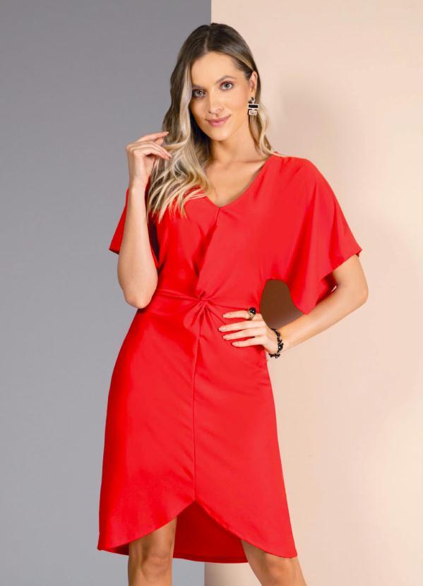 Vestido (Vermelho) com Nó na Frente