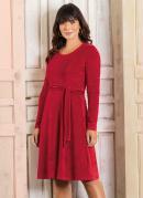 Vestido Vermelho em Plush Moda Evangélica