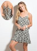 Vestido Geométrico com Amarração Quintess