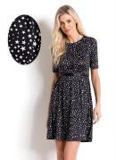 Vestido com Cinto Quintess Star Print