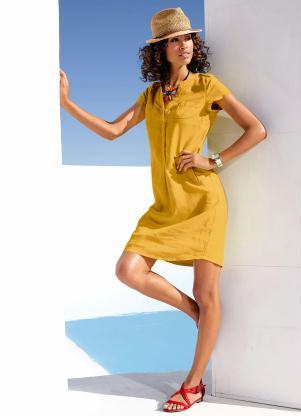 Vestido de Linho (Amarelo)