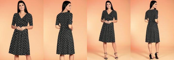 Vestido Poá Moda Evangélica