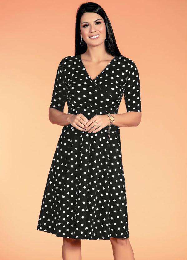 Vestido (Poá) Moda Evangélica