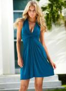 Vestido sem Manga Azul