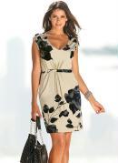 Vestido de Malha Bege