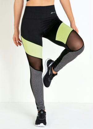 Calça Legging (Preta) com Recortes Sawary Fitness