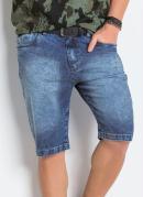 Bermuda Jeans com Bolsos