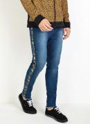 Calça Actual Jeans com Detalhe Camuflado