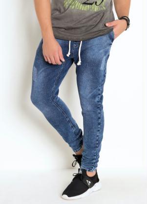 Calça Skinny (Azul)Com Amarração em Cordel