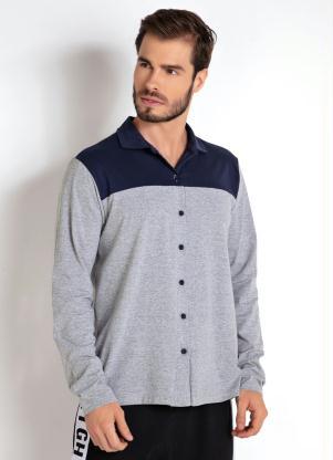 Camisa(Mescla, Branca e Azul) Recortada