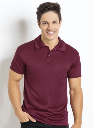 Camisa Manga Curta (Bordô) Gola Polo