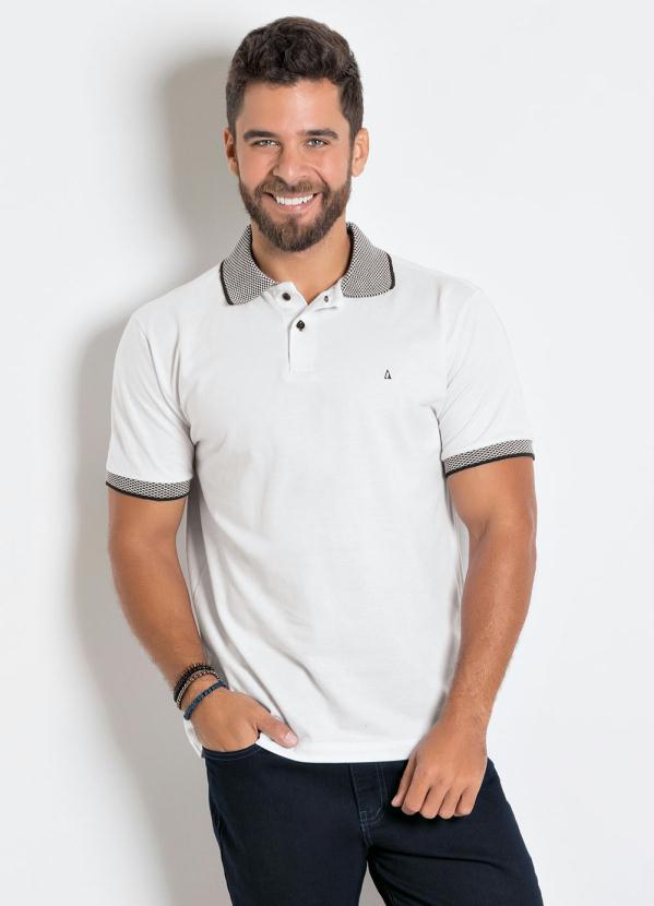 Camisa Polo Actual (Branca) com Detalhe na Gola