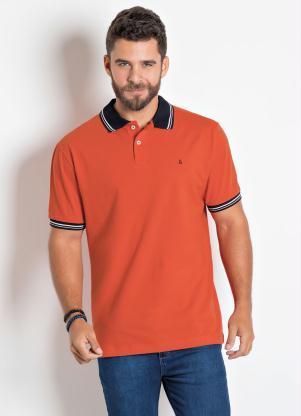 Camisa Polo Actual (Laranja) em Piquet