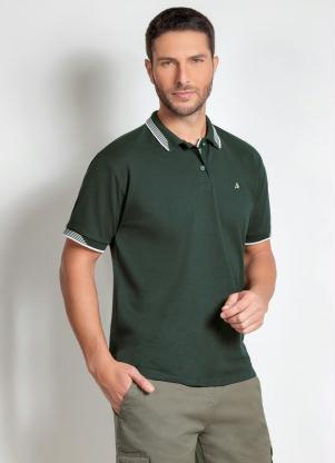 Camisa Polo Actual (Verde) com Botões