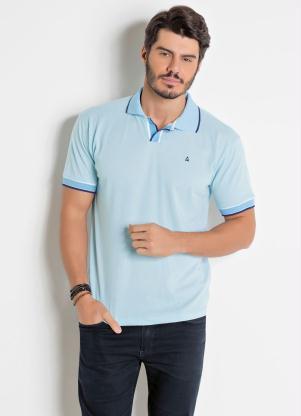 Camisa Polo (Azul) com Bordado Actual
