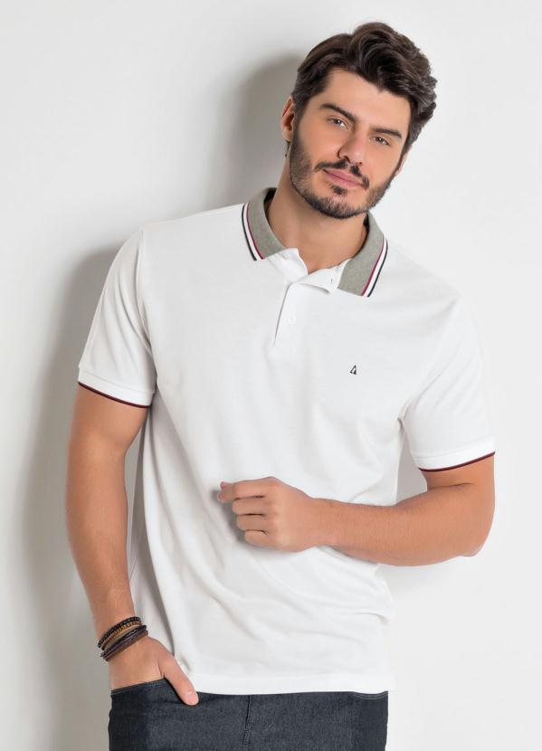 Camisa Polo Actual (Branca) com Detalhes