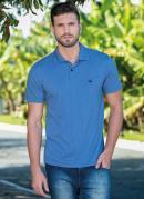 Camisa Polo Azul Jeans Masculina