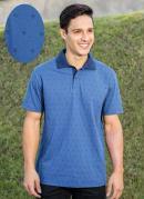 Camisa Polo Marinho Estampa Frontal e nas Mangas