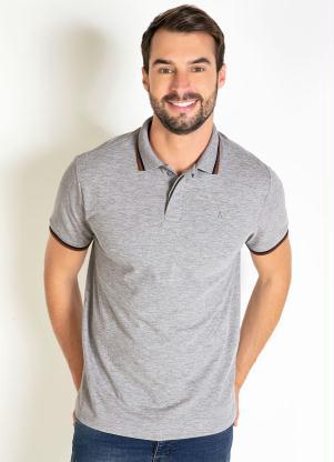 Camisa Polo (Mescla) Detalhe no Peitilho