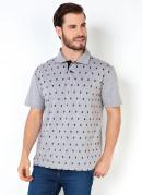 Camisa Polo Mescla Estampa Caveira