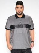 Camisa Polo Mescla Recorte em Cirrê Plus Size