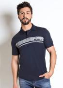 Camisa Polo Nicoboco Estampa Frente Marinho