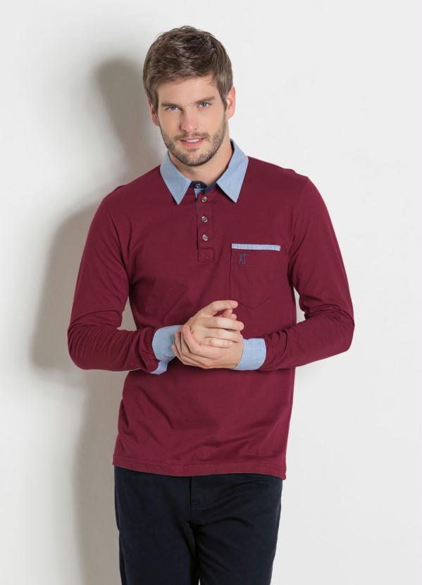 Camisa Manga Longa (Vinho)