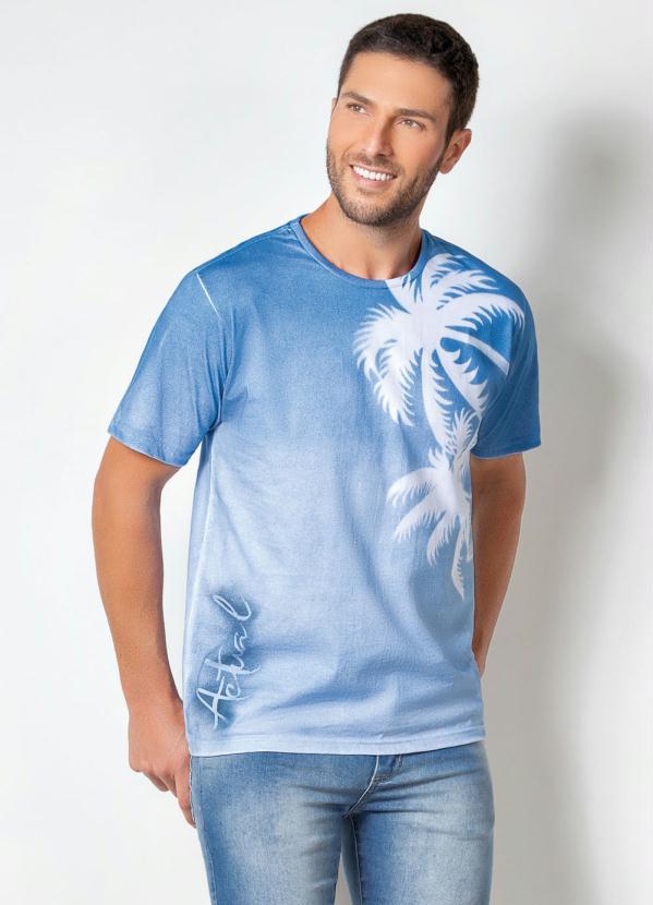 Camiseta Actual (Azul) com Detalhes Vazados