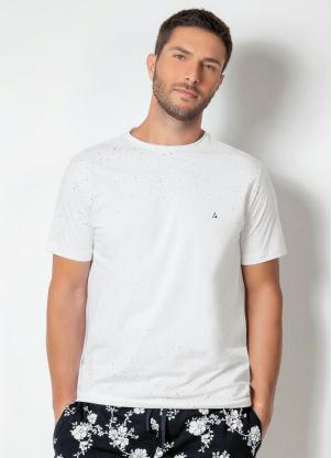 Camiseta Actual (Branca) com Respingos