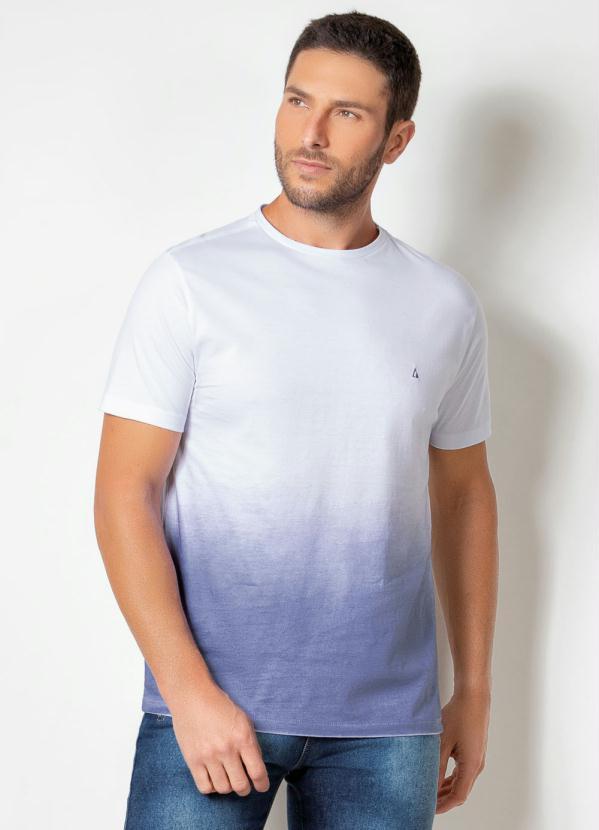 Camiseta Actual (Branca) com Spray e Mangas Curtas