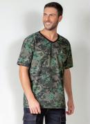 Camiseta Actual Camuflada com Mangas Curtas