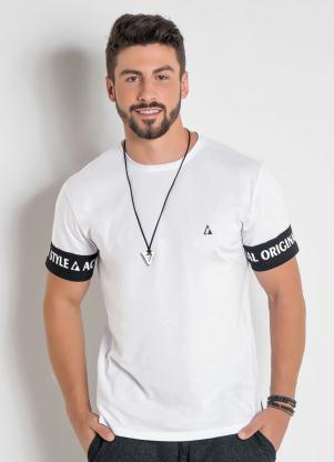 Camiseta Actual com Estampa Costas e Mangas