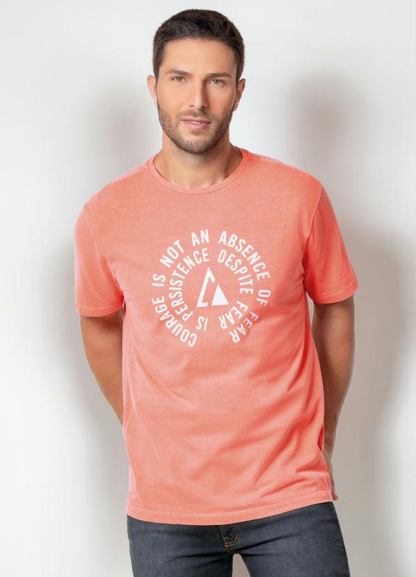 Camiseta Actual (Laranja) com Estampa Frontal