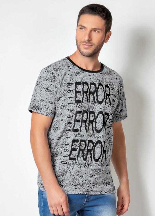 Camiseta Actual (Mescla) com Estampa Frontal