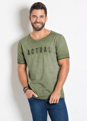 Camiseta Actual (Verde) com Bordado