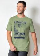 Camiseta Actual Verde com Estampa na Frente