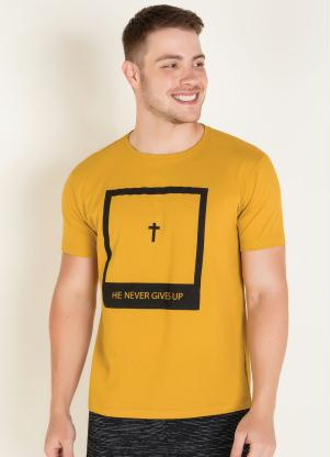 Camiseta (Amarela) com Mangas Curtas