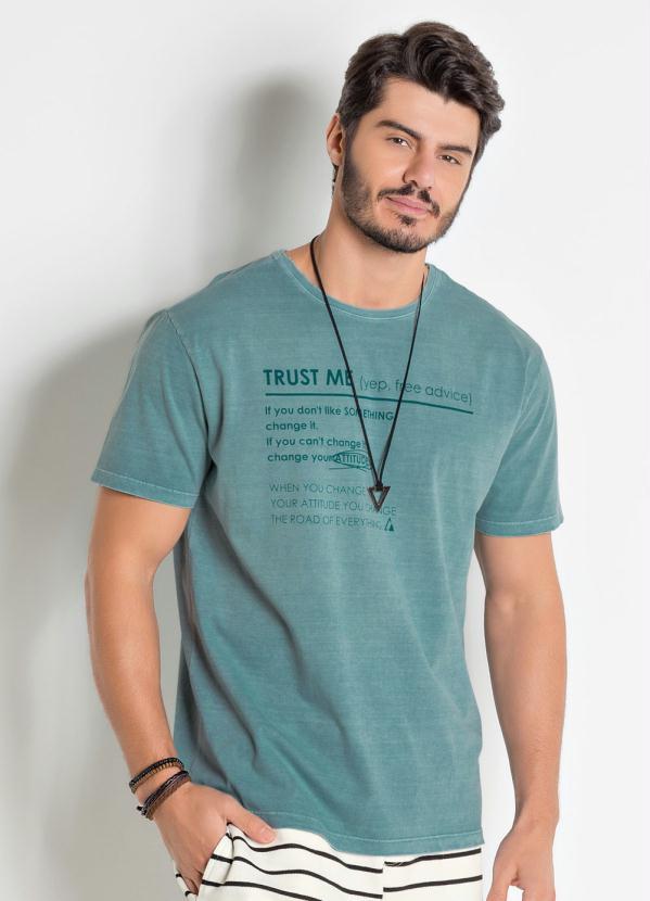 Camiseta (Verde) Actual Lavação Estonada
