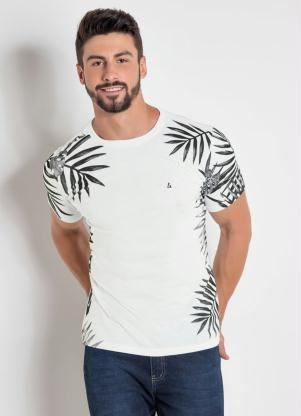 8d4f117ffa Camiseta Branca com Estampa Folhagem - Quintess