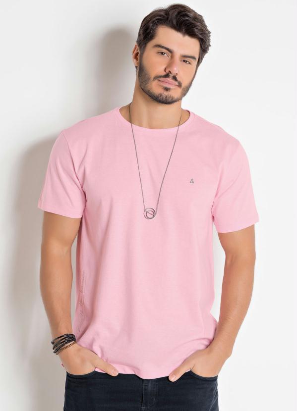 Camiseta Actual (Rosa) com Manga Curta