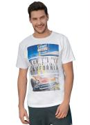 Camiseta Branca Carro Antigo California