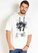 Camiseta Branca com Capuz Oversized