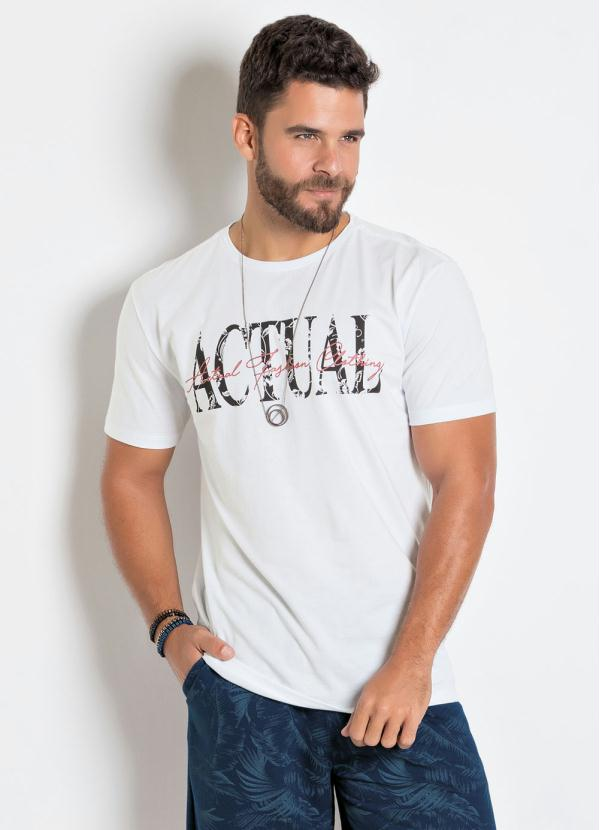 Camiseta (Branca) com Estampa Actual