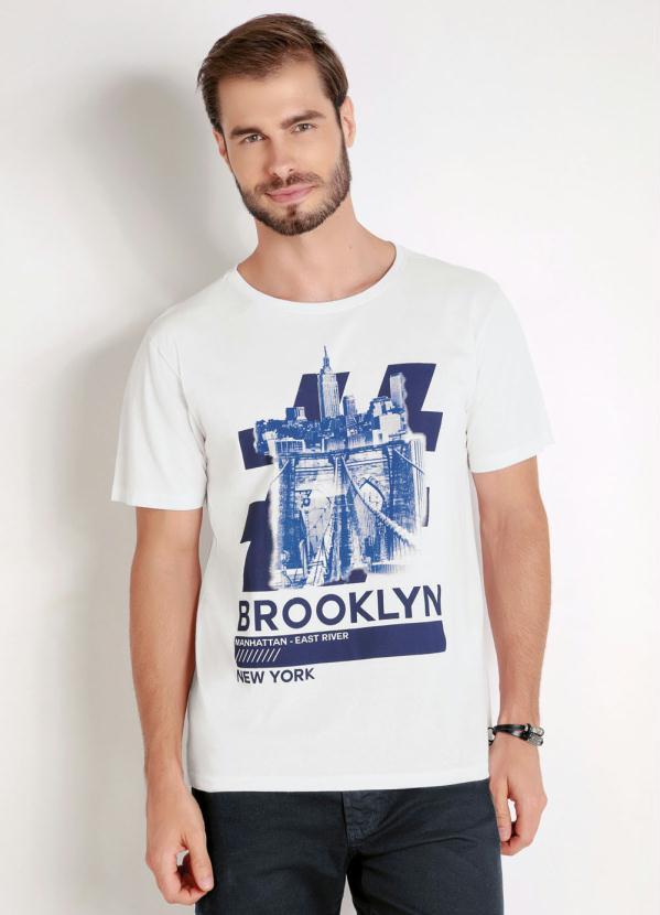 Camiseta (Branca) com Estampa Frontal