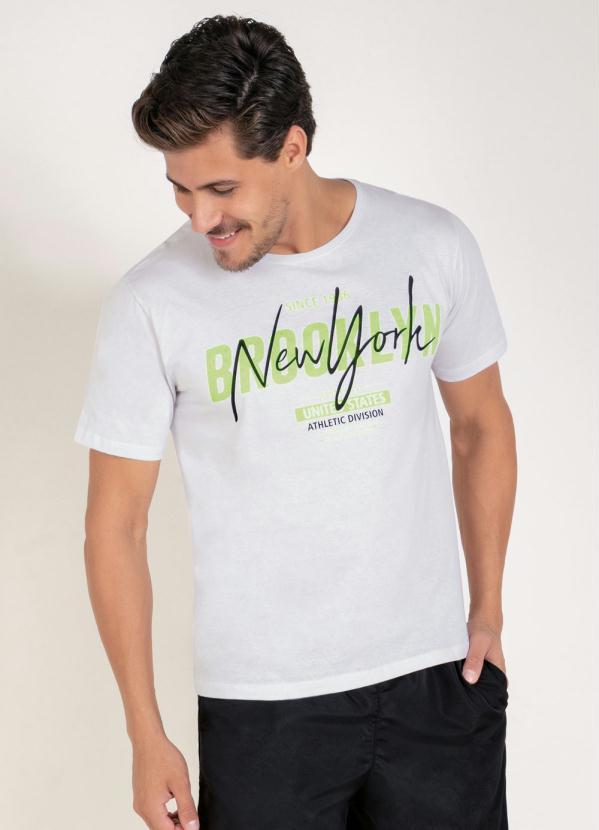 Camiseta (Branca) com Estampa Localizada na Frente