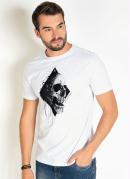 Camiseta Branca com Estampa na Frente