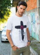 Camiseta Branca com Estampa