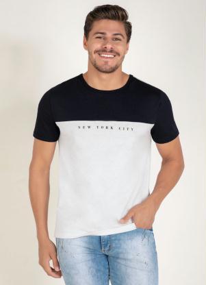 Camiseta (Branca e Preta) com Recorte